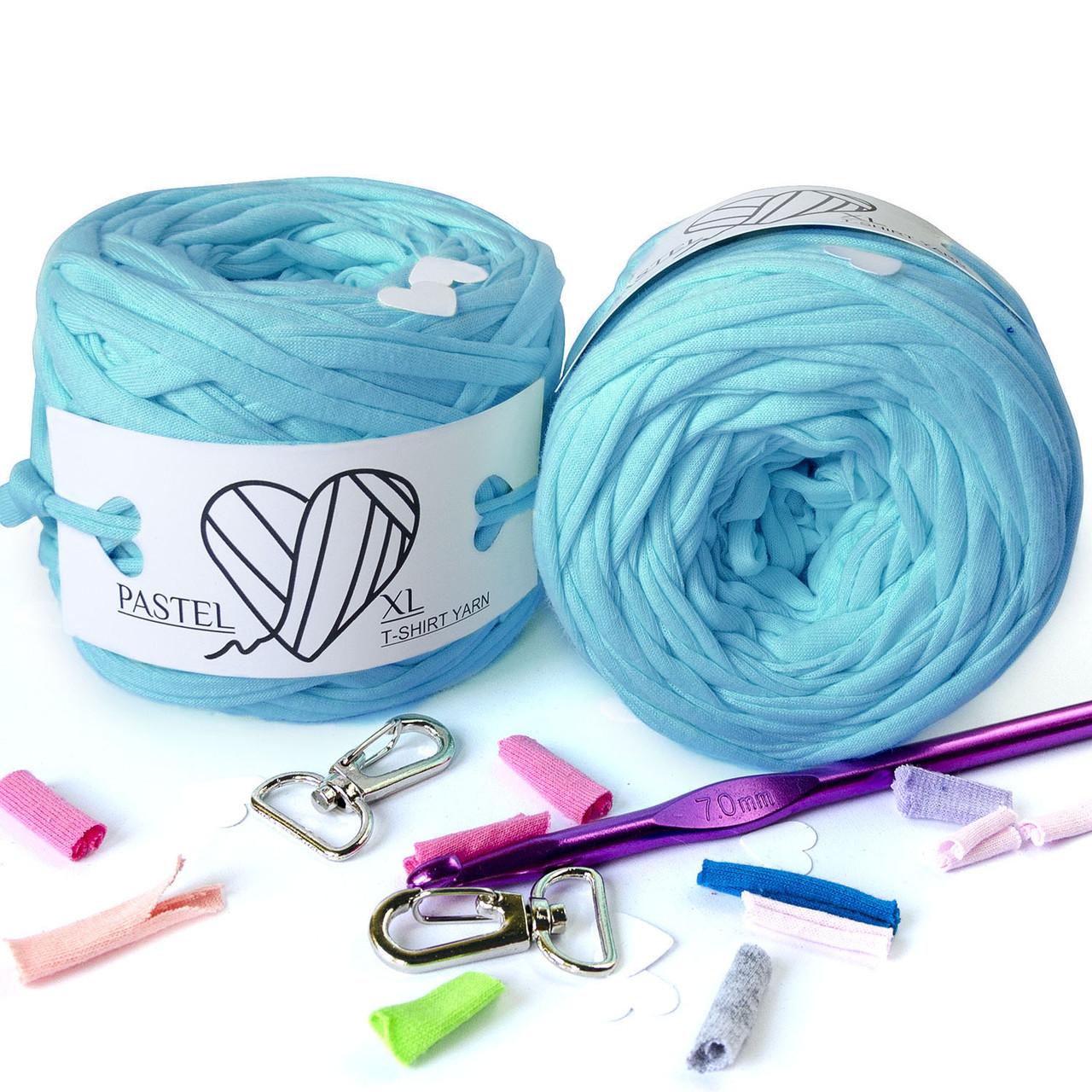 Трикотажная пряжа Pastel XL яркий голубой (65м)