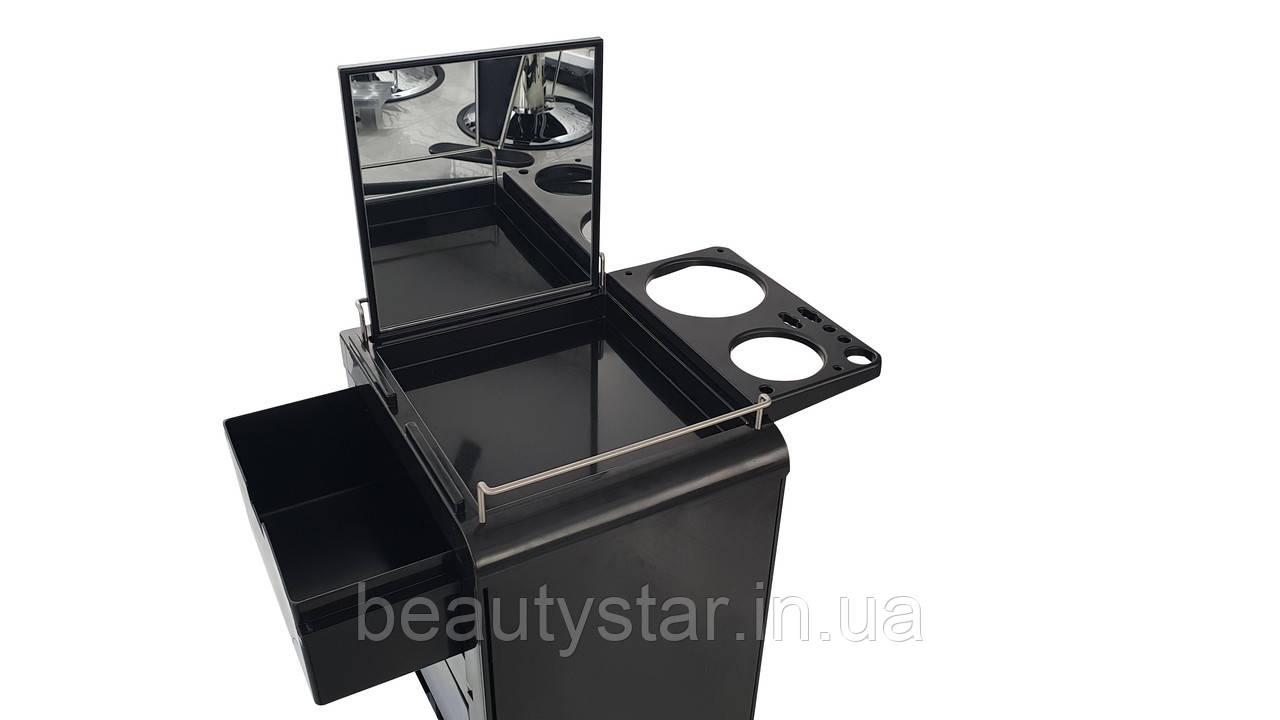 Парикмахерская тележка -кейс с зеркалом для визажиста и парикмахера Помощник MULTI