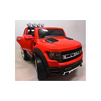 Електромобіль Cabrio LONG+колеса EVA червоний