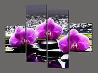 Модульная картина Орхидеи 120*93 см(Код: 231.4k.120)