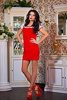 """Яркое молодежное платье мини """"Girl"""" красный, фото 1"""