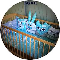 Защита в кроватку Love, HandMade