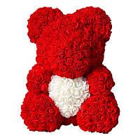 Мишка Из Роз 25-40 см + Подарочная Упаковка