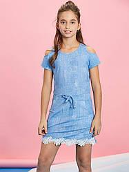 Летнее платье для девочки 110-140