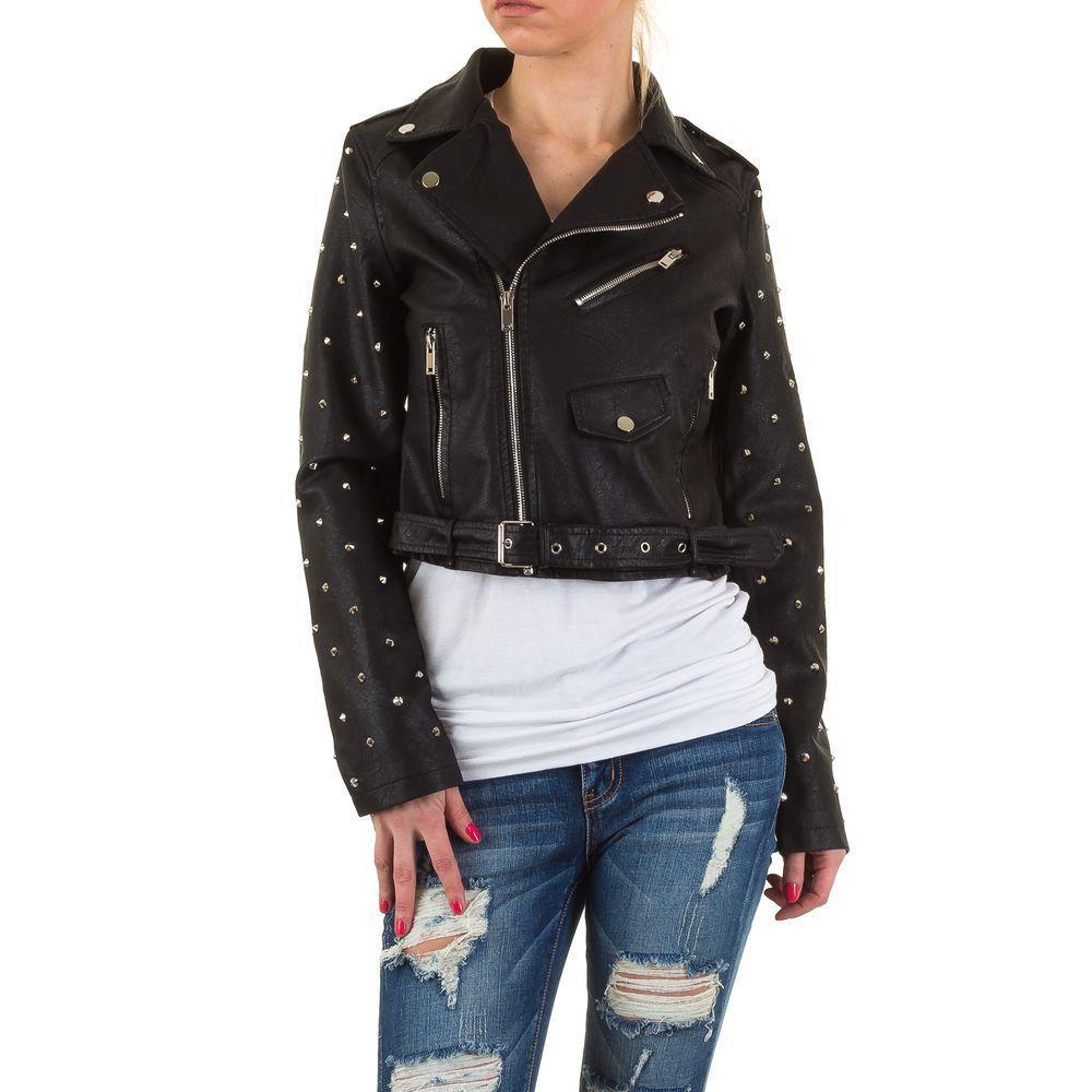 Куртка косуха женская с заклепками Noemi Kent (Франция), Черный
