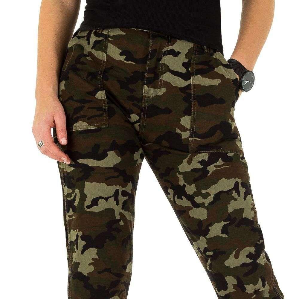 Женские армейские джинсы от Laulia (Европа), Камуфляжный