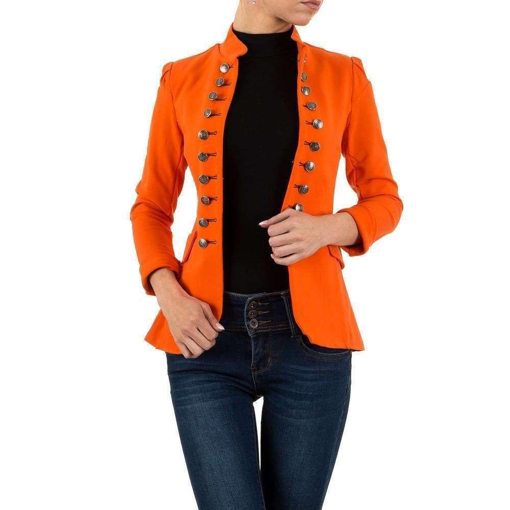 Пиджак милитари женский Voyelles (Италия), Оранжевый