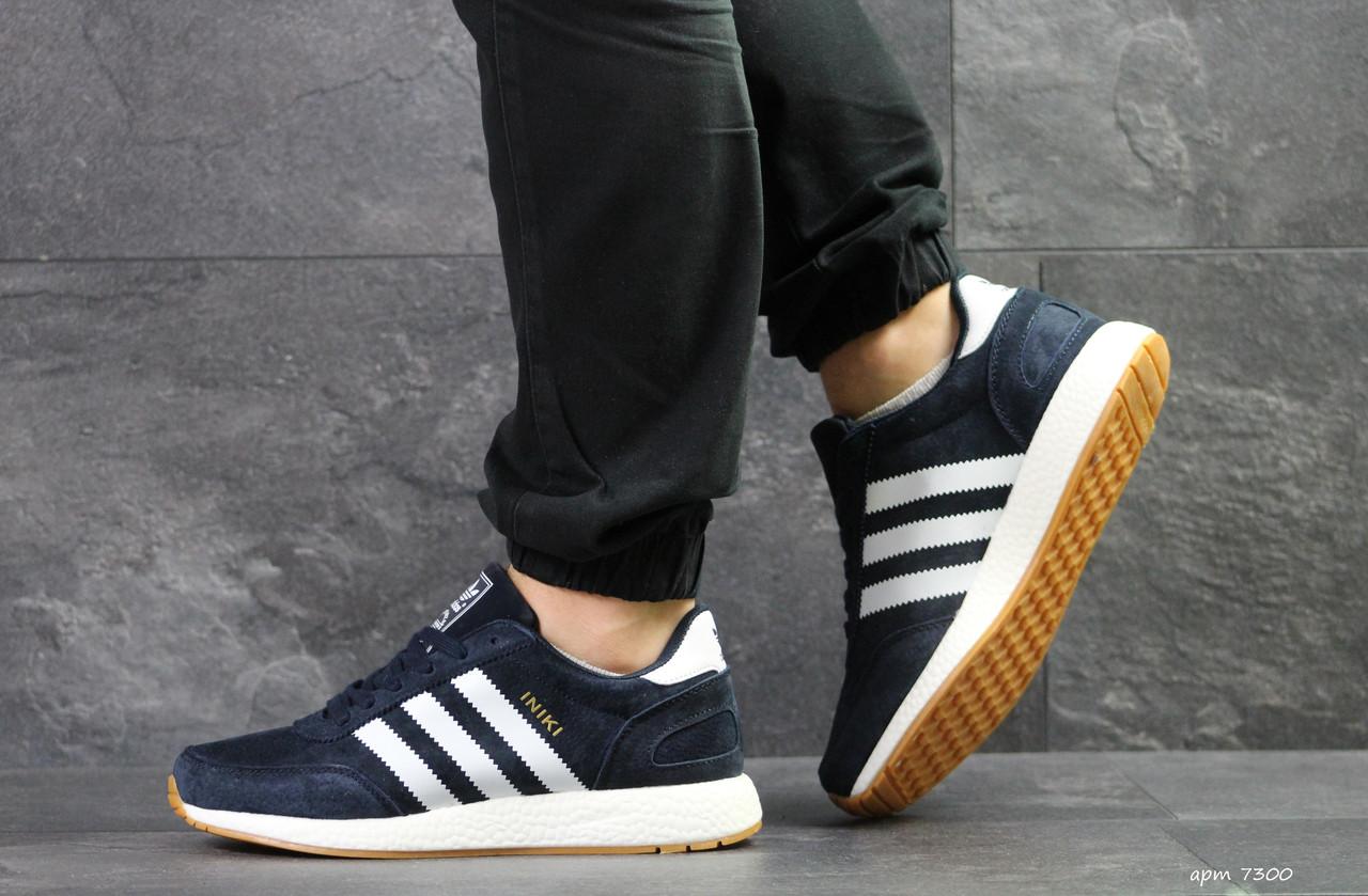Мужские кроссовки Adidas Iniki синие - Интернет магазин