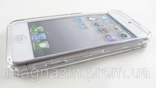 Купить прозрачный пластиковый чехол  для iPhone 4.