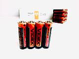 Батарейка солевая VIDEX R6P/AA 4pcs SHRING, фото 3