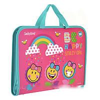 Папка-портфель 491407 Smiley World(pink)