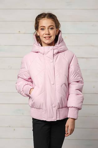 Детская демисезонная куртка для девочки Натали, размеры 134-158, фото 2