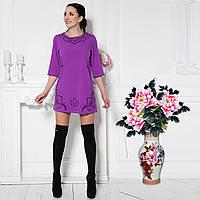 Короткое платье с перфорацией G7192