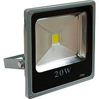 Прожектор LL-832 1LED 20W белый 6400K 230V (180*185*45mm) Серебро   IP 66