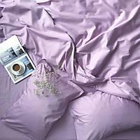 Комплект постельного белья сатин однотонный Lilac, фото 1