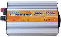 """Инвертор AXIOMI Energy NV-M 1000Вт 12-220 + USBкабель с """"крокодиллами"""" на аккумулятор"""