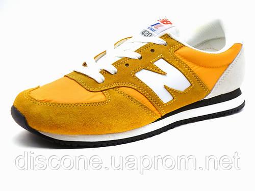 Кроссовки New Balance 420 мужские желтые/ белые/ текстиль/ замша