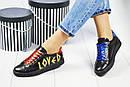 """Кеды женские кожаные с надписью """"Loved"""" Art Eclips , фото 2"""