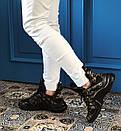 Модные женские кожаные кроссовки в двух расцветках, фото 2