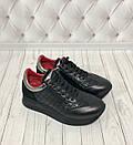Модные женские кожаные кроссовки со стеганными вставками Carlo Pachini, фото 2