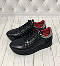 Модные женские кожаные кроссовки со стеганными вставками Carlo Pachini, фото 5