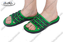 Мужские сланцы черно-зеленые (Код: П-17)