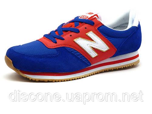 Кроссовки New Balance 420 мужские синие/ красные/ текстить/ замша