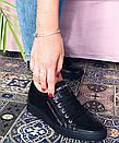 Женские кожаные кеды CARLO PACHINI черные, фото 2