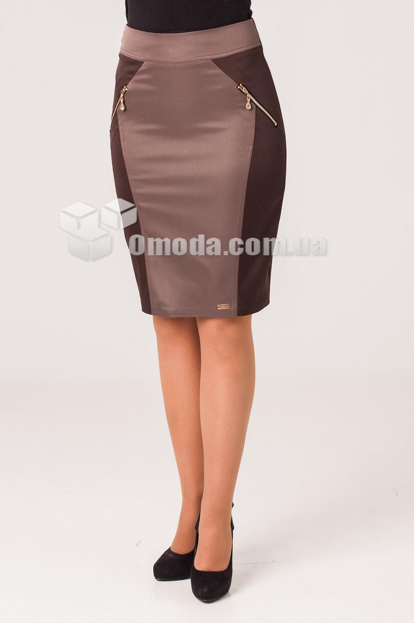Женская юбка карандаш  Тина бежевого цвета