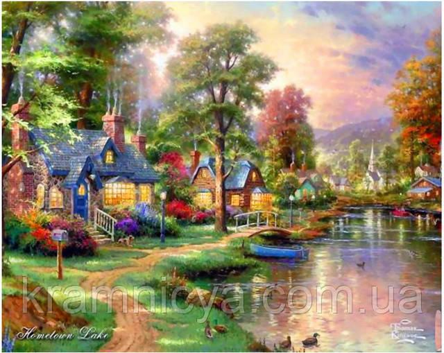 """Картина по номерам """"Озеро Хоумтаун"""", MG010, 40х50см"""