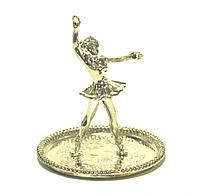 """Вешалка для колец с блюдцем """"Балерина"""" из мельхиора."""