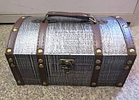 Шкатулка большая сундук чемодан 22*15*11 см, фото 1