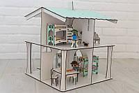 Кукольный домик NestWood 4х-сторонний для кукол ЛОЛ, 8 комнат (этаж 20см), без мебели