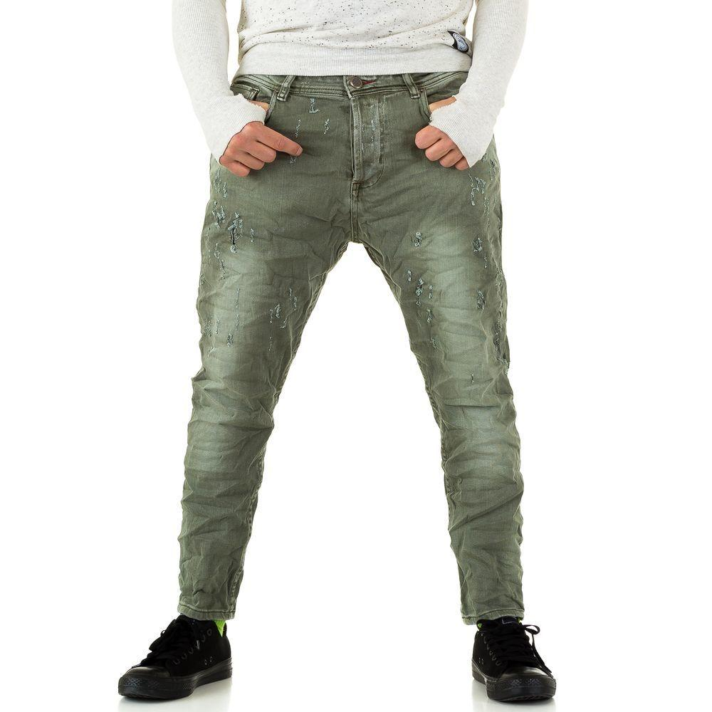 Мужские джинсы Y. Two Jeans, размер 28 - Army Green - KL-H-C200-Army Green 28