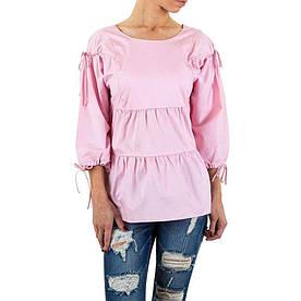 Женская свободная блузка с вырезом на спине Shk Mode (Европа) Розовый