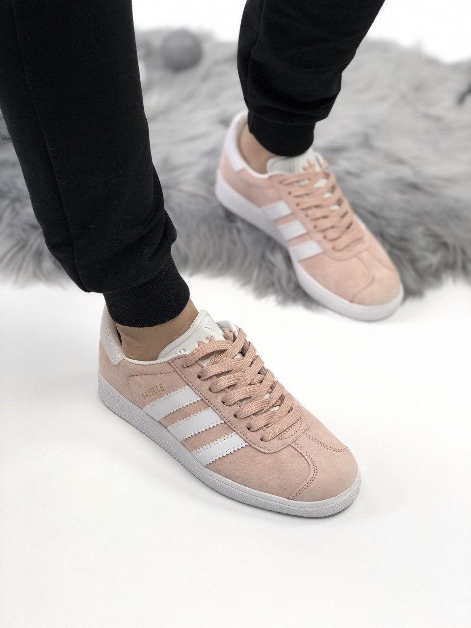 Женские замшевые кроссовки Adidas Gazelle 3 расцветки
