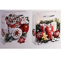"""Акция! Пакет подарочный бумажный """"Новогодняя композиция"""" 12шт/уп 40*55*15см Stenson(R87419)"""