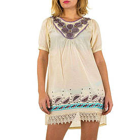 Женское платье от Angel Paris - кремовый - KL-6047-cream