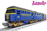 Конструктор Поезд 832 детали 3 вагона 1 фигурка Ausini Trains lego