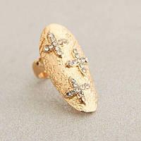 РАСПРОДАЖА! Золотистое кольцо - Ноготок