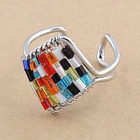 РАСПРОДАЖА! Разноцветное кольцо из меди