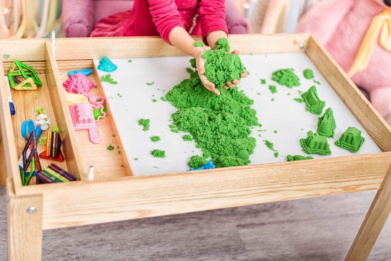 Акция! Детский Световой стол-песочница для песочной анимации Noofik (ЯСЕНЬ, лак) + подарок набор трафаретов