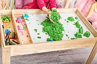 Акция! Детский Световой стол-песочница для песочной анимации Noofik (ЯСЕНЬ, лак) + подарок набор трафаретов, фото 1