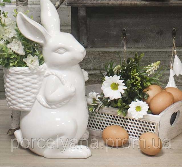 Статуэтка заяц с рюкзаком 33 см Ewax