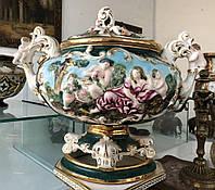 Ваза Capo di Monte Италия фарфор 1-я пол.ХХ-века