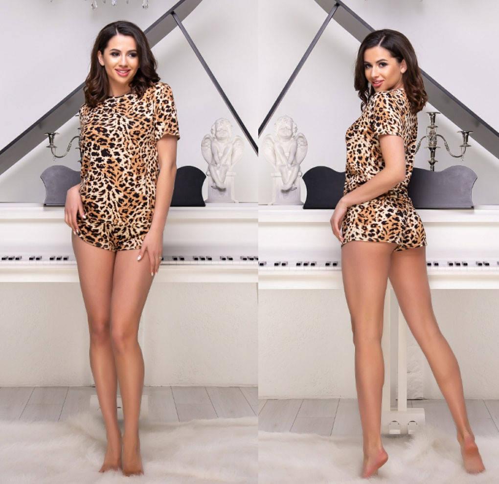 Женский домашний комплект-пижама с шортами 183