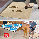 Супервпитывающий придверный коврик Clean Step Mat, доставка по Киеву, фото 5