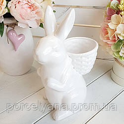 Фигурка кролик с рюкзаком 26 см кролик-кашпо BonaDi