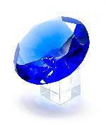 Кристалл 12 см. с хрустальной подставкой
