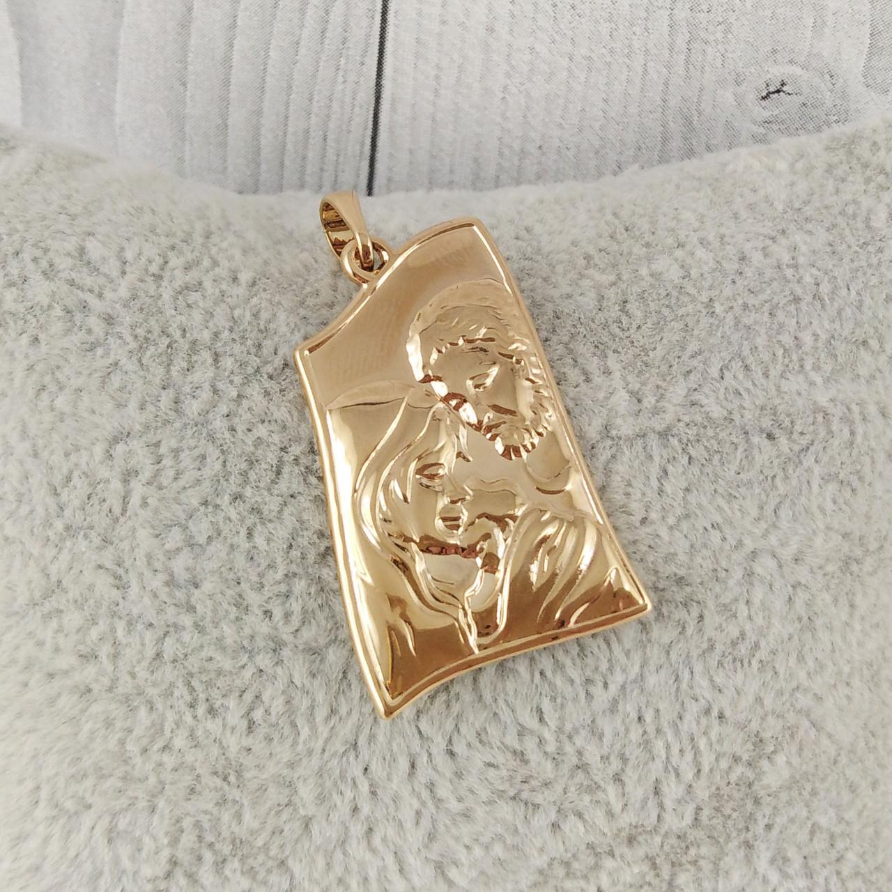 """Ладанка XUPING """"Святая семья"""" медицинское золото, позолота 18К"""